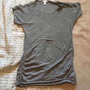 Motherhood Maternity gray cotton shirt w/ lace